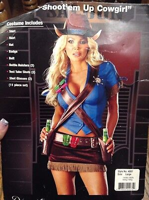DREAMGIRLS SHOOT'EM UP COWGIRL SIZE LARGE