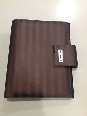 Day Timer Classic 1 18 Rings Brown Durable Nylon Planner Binder Snap Closure