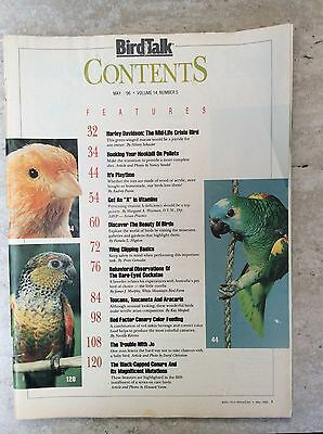 Bird Talk Magazine May 1996 Dedicated to Better Care for Pet Birds