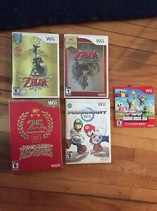 Black Wii with 5 games