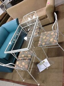 Glass Table with 3 Chairs @HFHGTA NY ReStore