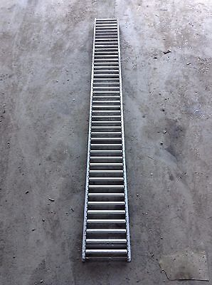 "Unex Span-Trak Gravity Flow Roller Conveyor Track / Lane 90.5""L X 9.5""W 2""H"