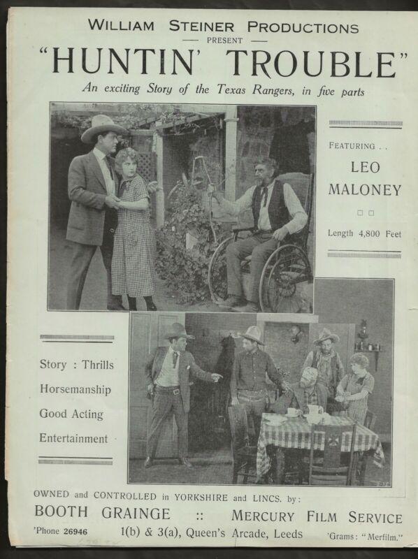 1924 LEO MALONEY ORIGINAL WESTERN PRESSBOOK