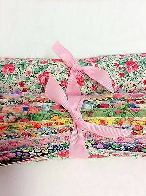 """28 Over the hill Bouquet Shabby chic light precut 10"""" layer cake  fabric quilt"""