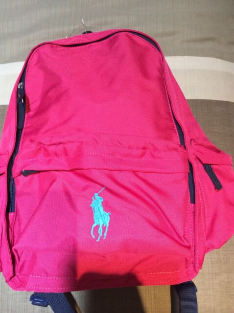 Childrens Ralph Lauren Polo Backpack Pink Canvas W/ Big Pony Lots ...