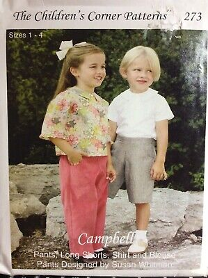 4 Childrens Corner Pattern - CHILDREN'S CORNER PATTERN #273- CAMPBELL- SIZE 1-4