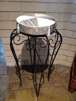 Beautiful up cycled wrought iron stool  Eden Hill Bassendean Area Preview