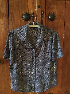 Kasper and Company Maxi navy print shirt & skirt set. UK 12, US8. NWT, womens