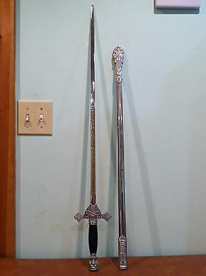 Vintage Knights of Columbus Ceremonial Sword and Scabbard