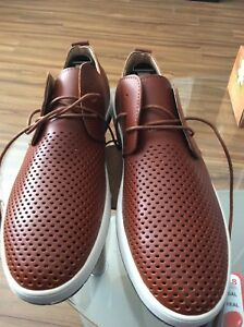 Merkmak New Men Casual Shoes Leather Breathable Shoes