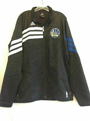 6237b8274a7e Golden State Warriors ADIDAS Full Zip NBA Jacket Coat Windbreaker XL