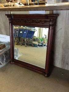 Foremost Wall Mirror in Rich Mahogany at HFH ReStore