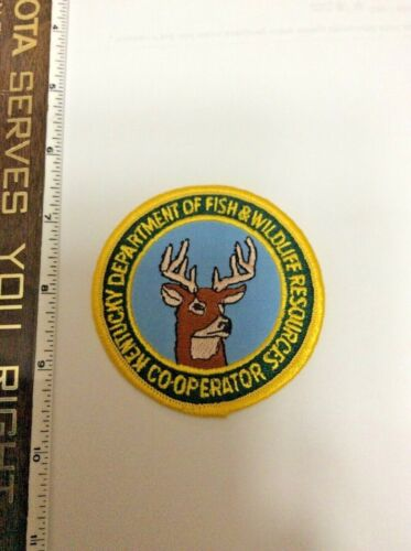 Kentucky Fish Wildlife Cooperator DNR NRA Police Shoulder Patch New