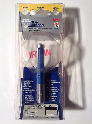 Irwin 531101 Carbide 12 X 1-12 Laminate Flush Trim Router Bit