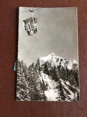 da5 postcard unused grindelwald ski lift mountains