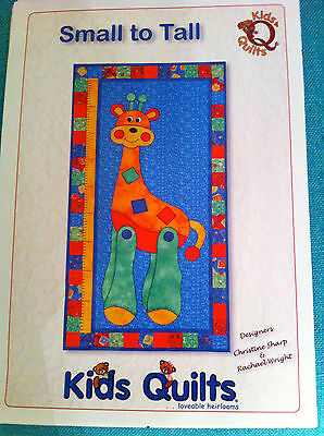 KIDS QUILTS SMALL TO TALL CHILDREN'S WALL GROWTH CHART QUILT APPLIQUE PATTERN