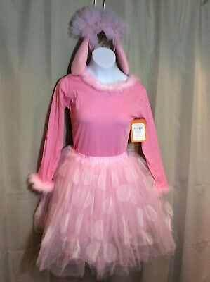 Pottery Barn Kids Pink French Poodle Costume Tutu Top Dog Ears Girls 7 8