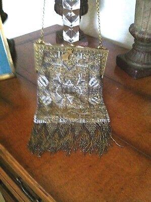 1920s Style Purses, Flapper Bags, Handbags Antique Vtg 1920's Mesh  Flapper Evening Bag Purse $175.00 AT vintagedancer.com