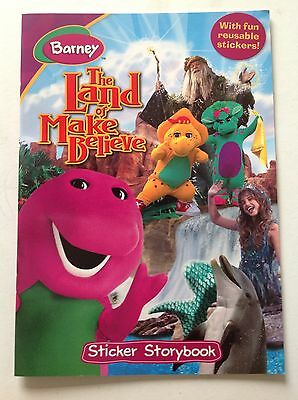 Barney In The Land Of Make Believe Sticker Storybook