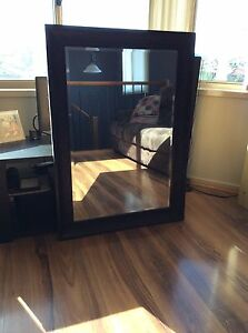 Black framed mirror Prestons Liverpool Area Preview