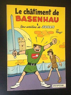 Le chatiment de Basenhau Johan et Pirlouit Peyo broché 1968 SUPERBE ETAT NEUF