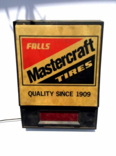 Vintage Falls Mastercraft Tires Quality Since 1909 Shop Clock Sign
