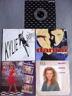 "KYLIE & DANNII MINOGUE *  5 x JOB LOT 7"" RARE Vinyl Records UK & FRANCE FRENCH"