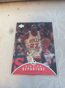 Michael Jordan Air Time Depature AT 8  insert  Rare Classic vintage Nba
