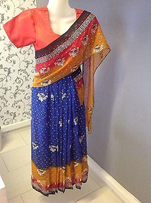 Bollywood Sari Kleid Kostüm Genäht Für Kinder Wickeln Nicht Nötig - Bollywood Kind Kostüm