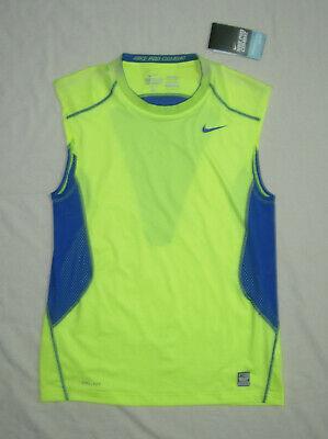 Nike Pro Combat Dri Fit Sleeveless top, men's M, Screaming Yellow! NWT Fit Dry Sleeveless
