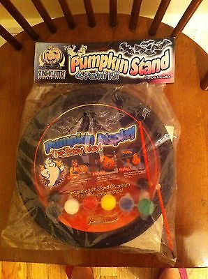 1999 Sheerlund Products Pumpkin Stand & Paint Kit new Stencils Halloween Craft  for sale  Shipping to India