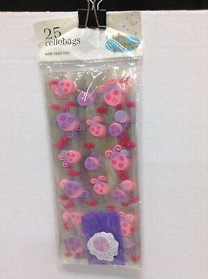 25 Cellobag Birthday School Party Loot Gift Candy Treat Bags Sack Ladybug - Ladybug Candy Bags