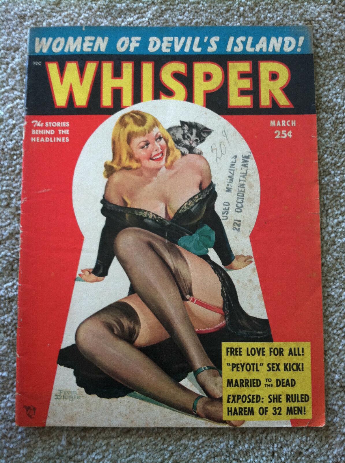 Whisper March 1953 V6 N5 - Men s / Pinup Magazine - Peter Driben GGA - $46.99