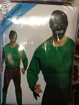 UK SELLER 🇬🇧 Marvel Hulk Green Giant padded muscle top New Costume Fancy Dress