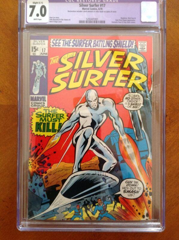 The Silver Surfer #17 CGC 7.0 Restored Grade! Marvel Comics 1970