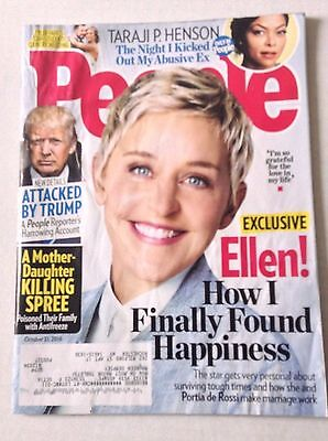 People Magazine Ellen Degeneres Donald Trump October 31, 2016 022917NONRH