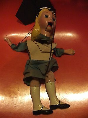 Vintage Alice In Wonderland Marionette Made By Peter Puppets