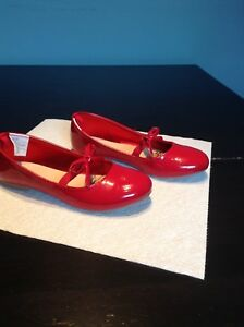 Girls Red Patent Ballet Flats Shoes Size 13 Gymboree Great Cond