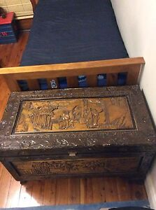 Chinese wooden glory box Monterey Rockdale Area Preview