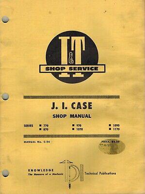 Case 770 870 970 1070 1090 1170 Tractors It Shop Manual C-24