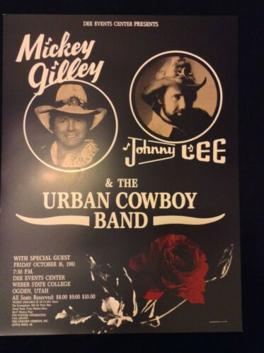Mickey Gilley/Johnny Lee and the Urban Cowboy Band- Original Poster 1981-Mint