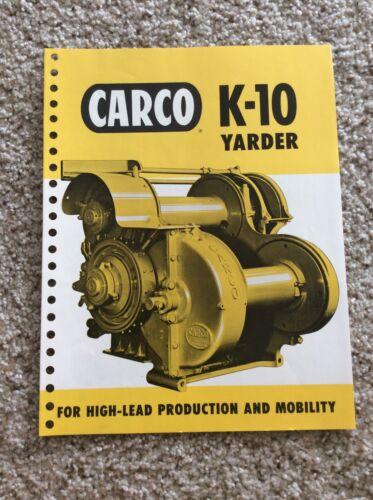 1960  Carco K-10 Yarder,  original factory printed sales handout