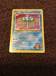 Misty's Tentacruel Pokémon card