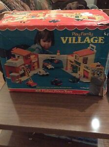 Vintage Fisher Price Little People Play Village in box! Strathcona County Edmonton Area image 1
