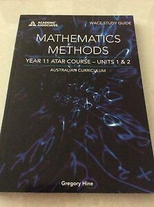 Mathematics Methods Year 11 WACE Study Guide Rivervale Belmont Area Preview