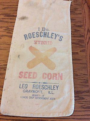 Old Cloth Farm Corn Seed Sack Leo Roeschleys Graymont Illinois