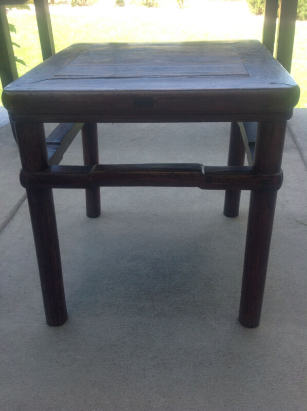 Antique Ming Chinese Chair Stool Table 18th 19th Century