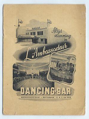 "1948 ""L'Ambassadeur Dancing Bar"" Rochussenstraat postcard; U.S.S. Spokane, Dutch"