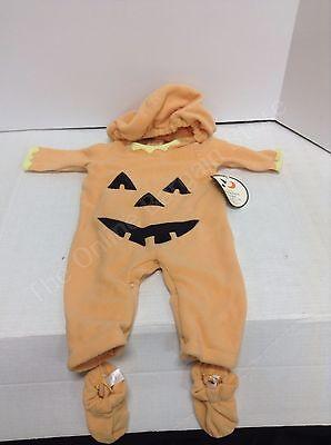 Pottery Barn Kids Halloween Childrens Pumpkin costume BABY 0-3 MONTHS baby 4 pc  - 0-3 Month Pumpkin Halloween Costumes