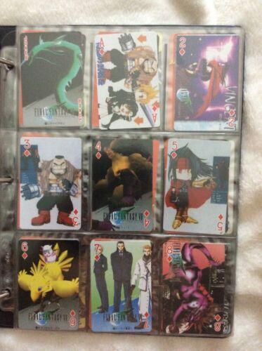 Standard playing card deck featuring Final Fantasy art